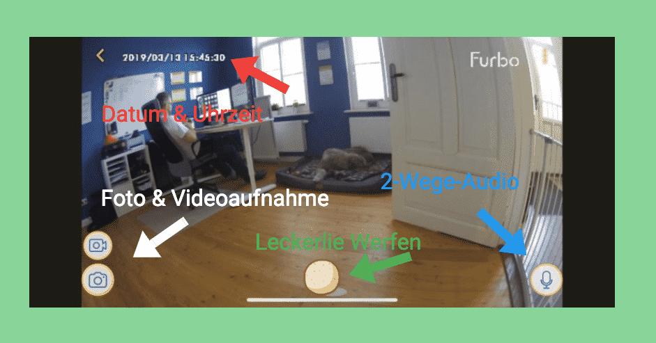 So sieht die Furbo App aus