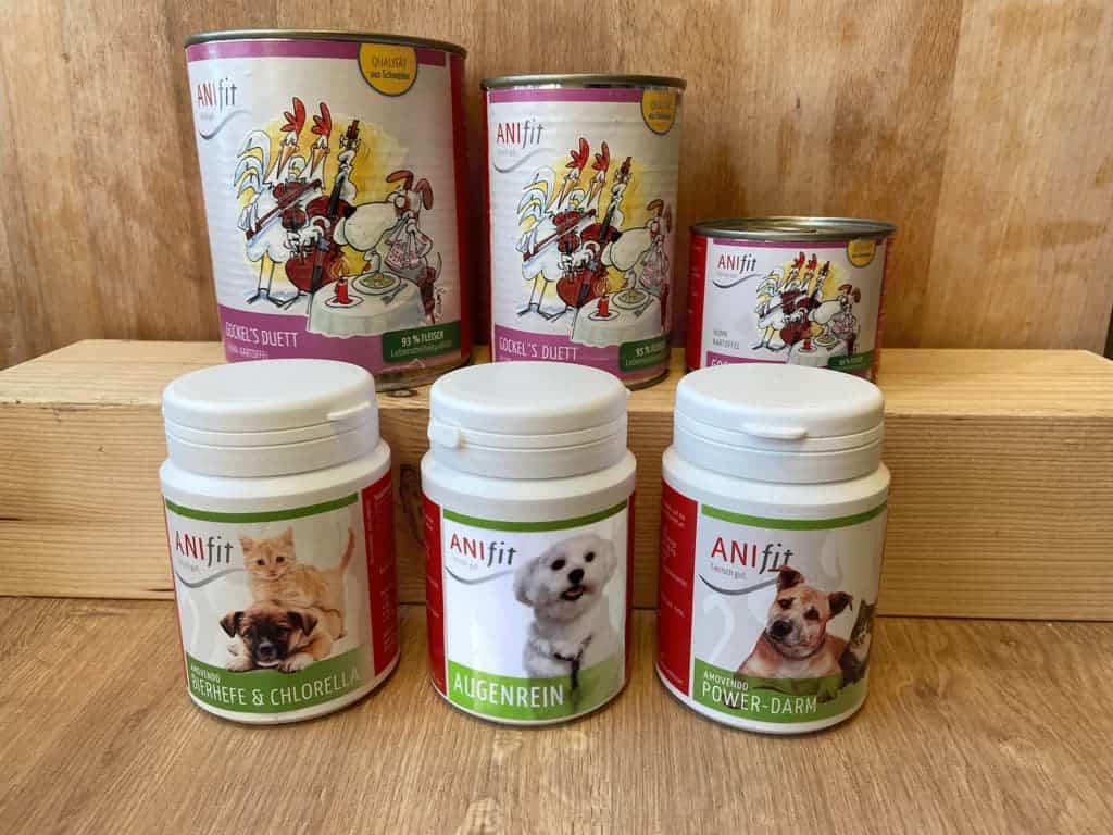 Anifit Produkte gegen Fellverfärbung beim Hund