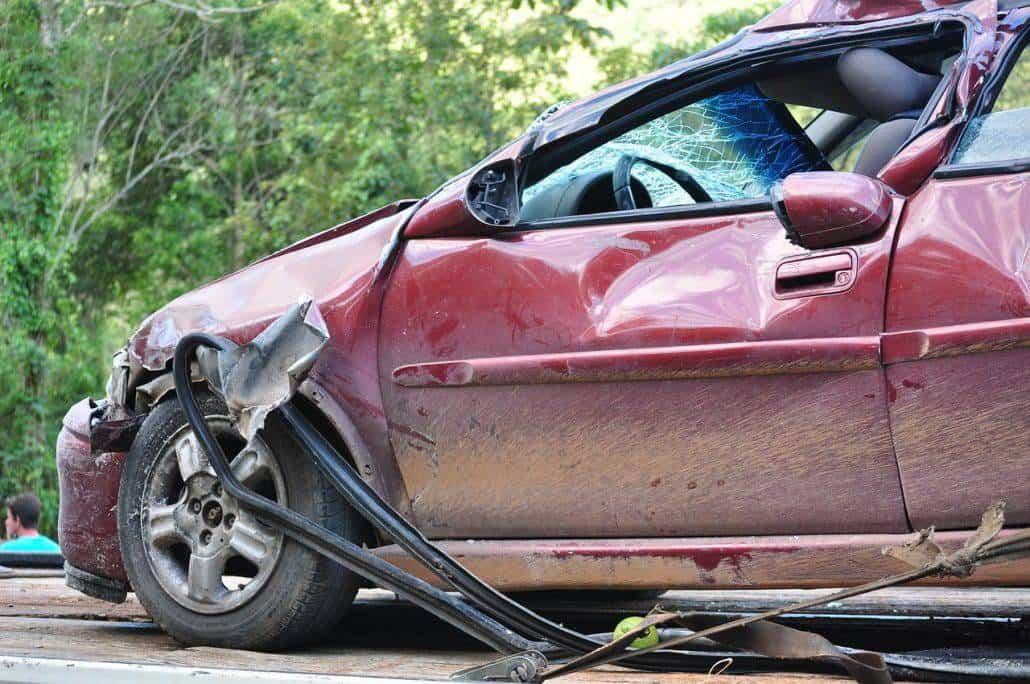 Auto nach einem Unfall