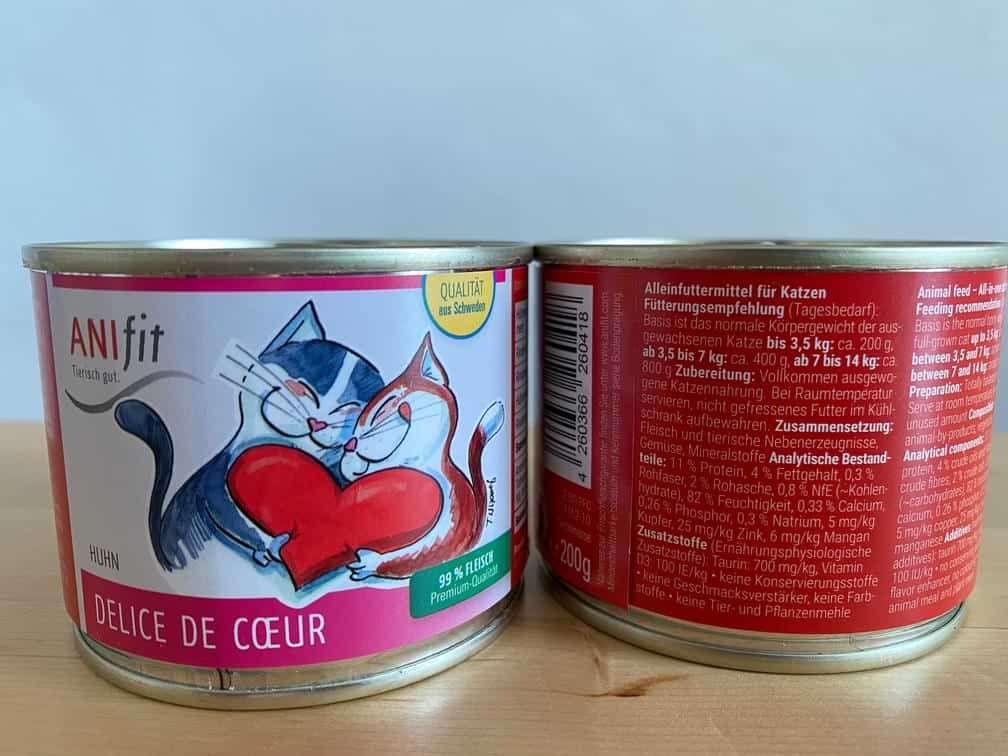 Anifit Katzenfutter Delice de Coeur in 200g Dose
