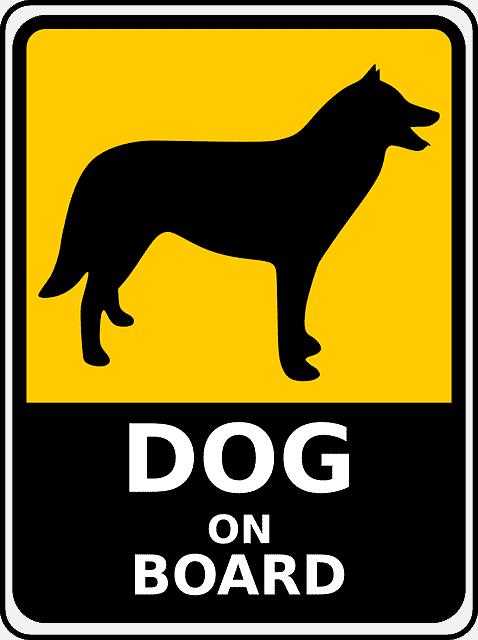 Hund an Board Schild